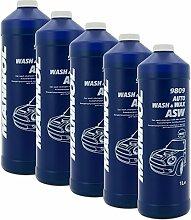 5x 1 l Wasch & Wachs Shampoo mit Wachszusatz