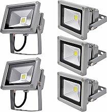 5X 10W LED Fluter Floodlight Strahler Licht