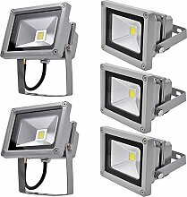 5x 10W LED Strahler Fluter Flutlichtstrahler