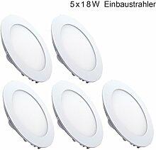 5x 12W LED Einbaustrahler Panel Spot