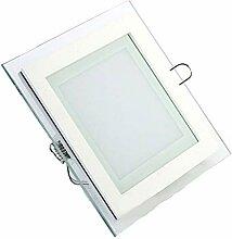 5x 12W LED Panel Glas Abdeckung Einbaustrahler