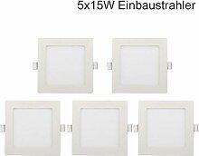 5x 15W LED Einbaustrahler Panel Spot