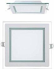 5x 15W LED Panel Glas Abdeckung Einbaustrahler