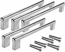5x 192mm Möbelgriff Griff für Schranktür,Schublade, Küchentür, Metall