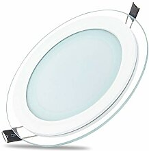 5x 6W LED Panel Glas Abdeckung Einbaustrahler
