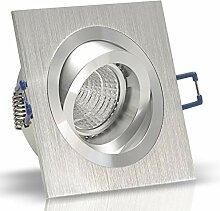 5x Decken Einbauleuchte NOBLE Silber 230V Hochvolt