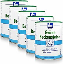 5x Dr. Becher Grüne Beckensteine für Urinale 35