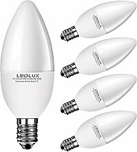 5x E14, 6W LED E14, LED lampe E14 Kerzenform,