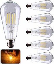 5X E27 LED Filament Lampe Retro LED Glühbirne