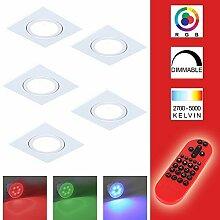 5x Einbaustrahler LED RGB Farbwechsel | 5er Set