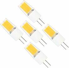 5X G4 LED Lampe 3W AC DC 12V Warmweiß 3000K