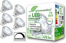 5x greenandco® CRI 90+ LED Spot dimmbar ersetzt