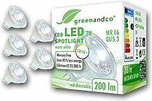 5x greenandco® CRI 90+ LED Spot ersetzt 20 Watt