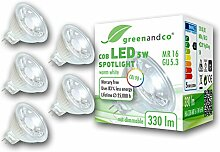 5x greenandco® CRI 90+ LED Spot ersetzt 30 Watt