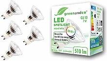 5x greenandco® CRI90+ LED Spot 4000K neutralweiß