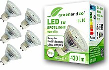 5x greenandco® CRI90+ LED Spot ersetzt 50 Watt