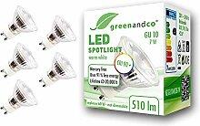 5x greenandco® CRI90+ LED Spot ersetzt 60 Watt
