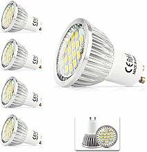 5X GU10 LED Lampe Deckenstrahler 5.5Watt Warmweiß