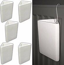 5x Keramik Luftbefeuchter Heizkörper | Heizung Wasser Verdunster | Raumbefeuchter Wasserverdunster Verdampfer