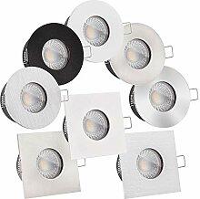 5x LED Bad-Einbauleuchte Lista Aqua Premium 230V |