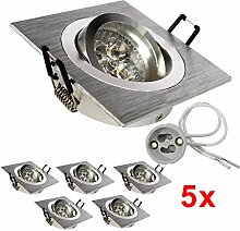 5x LED Einbau-Strahler, Einbaulampe, Einbauleuchte