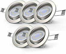5x LED Einbaustrahler dimmbar ohne Dimmer GU10