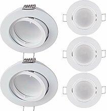 5x LED Einbaustrahler rund - Weiß 3 Watt