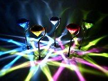 5x LED-Solar-Wegeleuchte Kiwa Party-Leuchte Gartenleuchte Stimmungsleuchte Dekoration