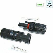 5x MC4 Stecker + Buchse für 4-6mm² Solar 5 mal Stecker 5 Leitungen 5 Stück TÜV Solarstecker Solarverbindung Solarkabel