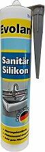 5x Meffert Evolan Sanitär Silikon Farbton Wählbar 1,5 L, Farbe:Grau