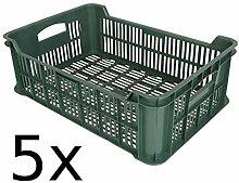 5x Obst- und Gemüsekiste Kartoffelkiste Kiste Lagerkiste Gemüse Transportkiste