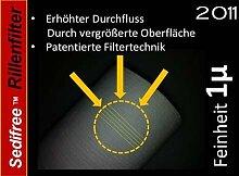 5x Sedifree Rillen Filter 1µ (mikron) Trinkwasser Zisterne Regenwasser Osmose Umkehrosmose Filteranlage SEDIMENTFILTER UMKEHROSMOSE WASSERFILTER BRUNNEN