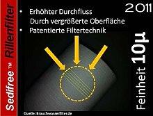 5x Sedifree Rillen Filter 10µ (mikron) Trinkwasser Zisterne Regenwasser Osmose Umkehrosmose Filteranlage SEDIMENTFILTER UMKEHROSMOSE WASSERFILTER BRUNNEN