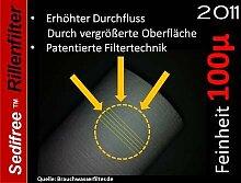 5x Sedifree Rillen Filter 100µ (mikron) Trinkwasser Zisterne Regenwasser Osmose Umkehrosmose Filteranlage SEDIMENTFILTER UMKEHROSMOSE WASSERFILTER BRUNNEN