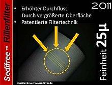5x Sedifree Rillen Filter 25µ (mikron) Trinkwasser Zisterne Regenwasser Osmose Umkehrosmose Filteranlage SEDIMENTFILTER UMKEHROSMOSE WASSERFILTER BRUNNEN