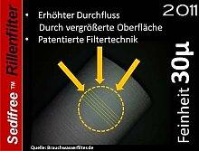5x Sedifree Rillen Filter 30µ (mikron) Trinkwasser Zisterne Regenwasser Osmose Umkehrosmose Filteranlage SEDIMENTFILTER UMKEHROSMOSE WASSERFILTER BRUNNEN