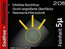 5x Sedifree Rillen Filter 5µ (mikron) Trinkwasser Zisterne Regenwasser Osmose Umkehrosmose Filteranlage SEDIMENTFILTER UMKEHROSMOSE WASSERFILTER BRUNNEN