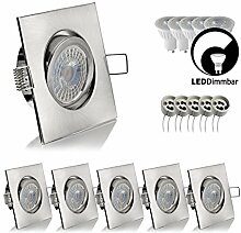 5x (Set) LED Einbaustrahler Einbauleuchte dimmbar