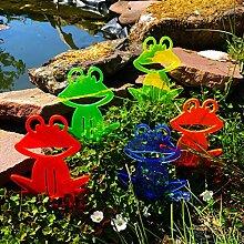 5X Sonnenfänger Gartenstecker Happy Frog, Deko