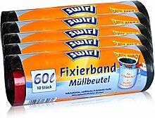 5x Swirl Fixierband Müllbeutel 60L ( 10 stk./Rolle )