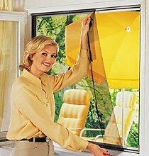 5x WENKO Fliegengitter schwarz 100x100 Fenster Insektenschutz Mückenschutz
