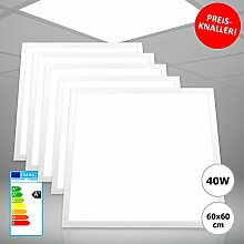 5x Xtend LED Panel 62x62 Tageslichtweiß Kaltweiß