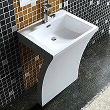 5x48x84 cm Design Standwaschbecken Colossum07 aus Gussmarmor Waschtisch Waschplatz Stand Säule