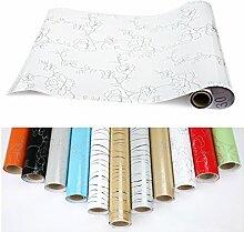 5xKINLO PVC 0.61 x 5M Küchenschränke Klebefolie Wasserfest Selbstklebende Aufkleber Folie aus hochwertigem PVC für Möbel Küche Schrank (Weiß)