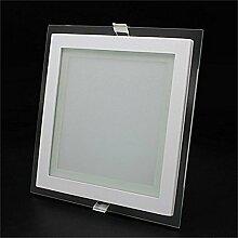6/12/18W LED Panel Leuchte Glas Dimmbar Quadrat
