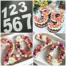 6/20,3cm Buchstaben Zahlen Form Kuchen Prägung