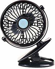 6.3-Inch Clip ventilator , 360° Drehbar Klein Beweglicher Tischventilator Batteriebetrieben für Kinderwagen Auto Büro Laptop Outdoor Camping.