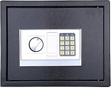 6,4/8,5/16/20L Elektronischer Wandtresor Wandsafe Tresor Doppelbartschloss mit Notschlüssel (20L)