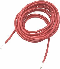 6.5ft Long Industrial Equipment Deel Red Silicone Wire 16AWG