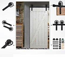 6.6FT/201cm Schiebe Türen Innen Set,
